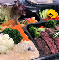 Seafood Beef Steak Lunch Box