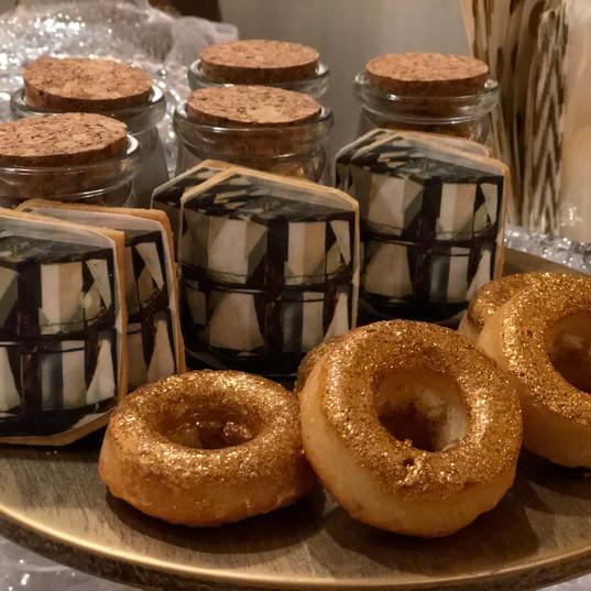 Golden Shimmer Donut