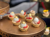 Foie Gras, Caviar & Quail Egg Tart
