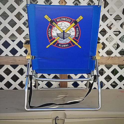Wildwood Beach Patrol Alumni Logo Beach Chair
