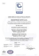 Industrias CATO SAS certificado ISO9001:2015