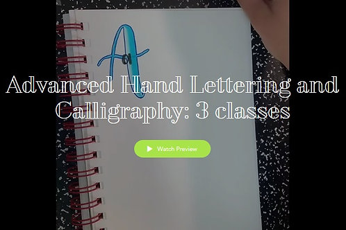 Advanced Hand Lettering and Calligraphy
