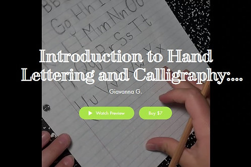 Introductory Hand Lettering and Calligraphy