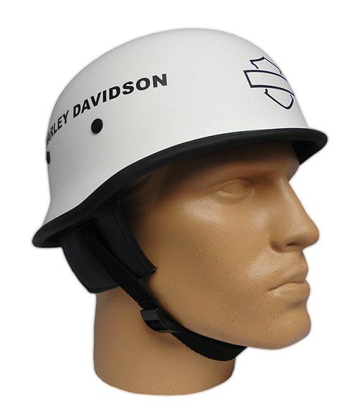 Capacete Custom M34 - Branco HD Out+Bar&Shield - M34C025