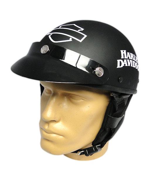Capacete Custom Classic Harley Davidson Preto & Branco (HD Outline & Skull)