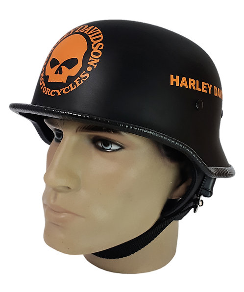 Capacete Custom M34 - Preto Skull+Outline Hd Lr - M34059