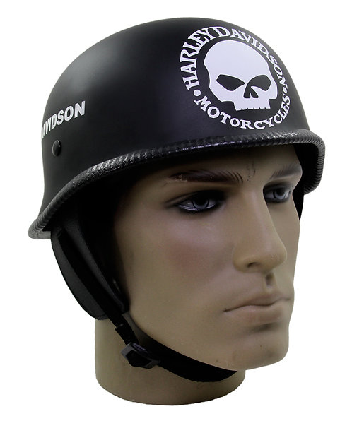 Capacete Custom M34 - Preto Skull+Outline HD Br - M34C048