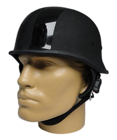 Capacete Custom M34 - Preto Fosco+Faixas V-Rod HD - M34C091