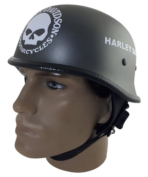 Capacete Custom M34 - Chumbo Skull / Outline Hd - M34c021