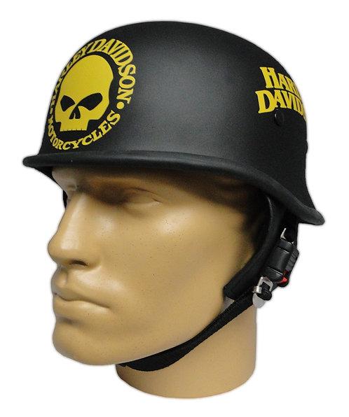 Capacete Custom M34 - Preto Skull+Outline HD Am - M34C066