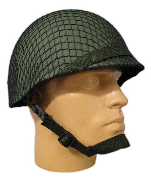 Capacete Tático de Guerra M1 BR - Verde Oliva com Rede Verde
