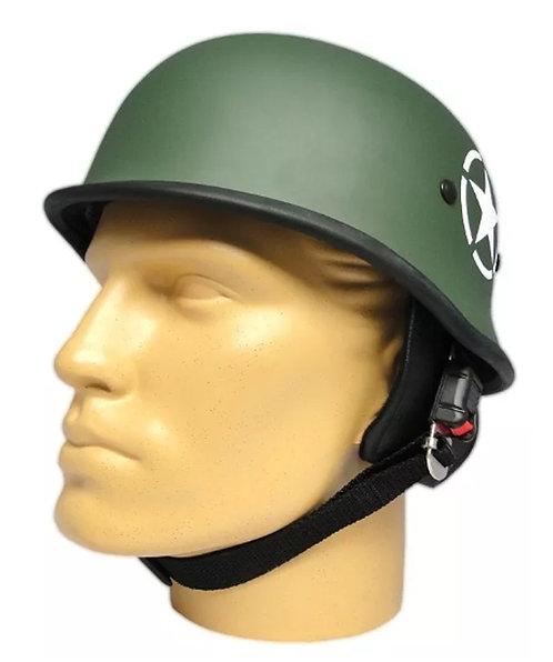 Capacete Custom M34 - Verde Oliva Com Estrela - M34c039