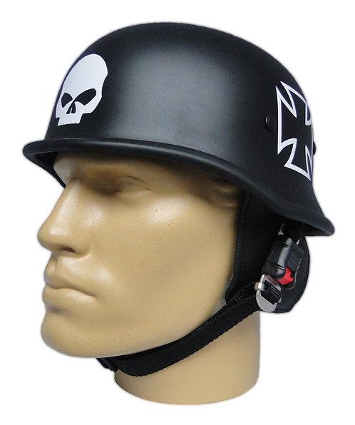 Capacete Custom M34 - Preto Skull+Cruz de Malta Br - M34C060