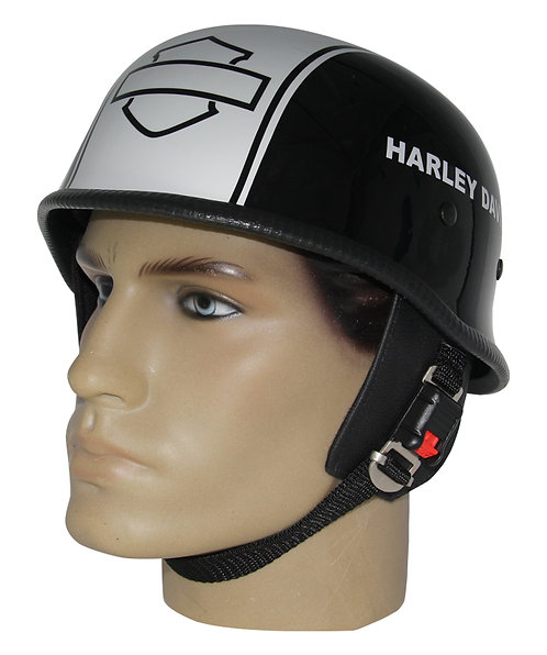 Capacete Custom M34 - Preto e Branco Out+b&s Hd - M34C089