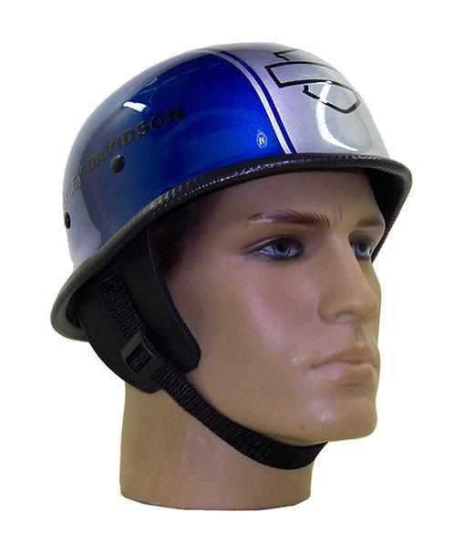 Capacete Custom M34 - Azul&Branco Out+Bar&Shield - M34C052