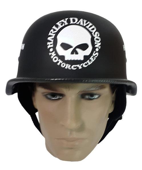 Capacete Custom M34 - Preto Skull+Outline HD Br - M34048