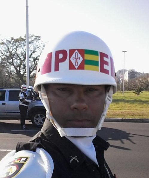 Capacete M1 BR Batalhão de Polícia do Exército - Branco de Gala