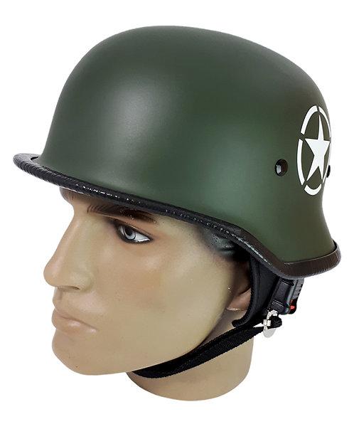 Capacete Custom M34 - Verde Oliva com Estrela - M34039