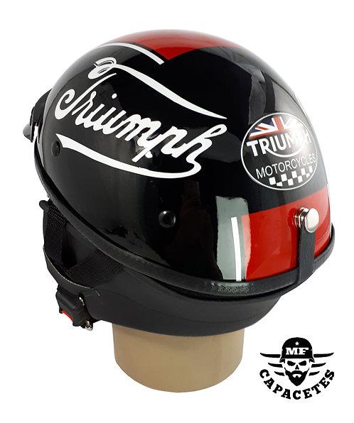 Capacete Custom Classic Triumph Red Black ccc084