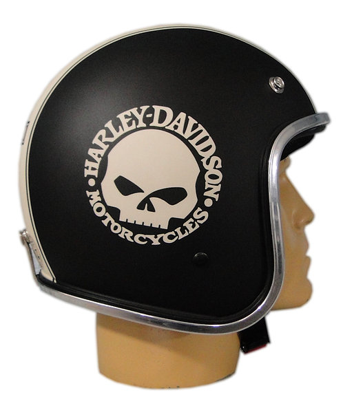 Capacete Old School - Café Racer - Bobber -Harley Davidson