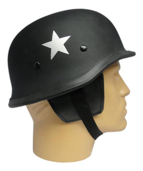 Capacete Custom M34 - Preto com Estrela Prata - M34004
