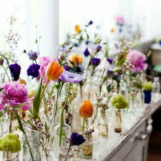 Wildflowers in assortment of containers