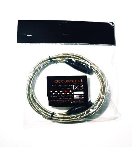 Accusound IX3 Interconnect Cable 3m