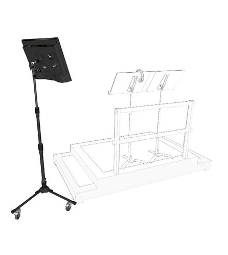 Triad Orbit Rolling Monitor Stand
