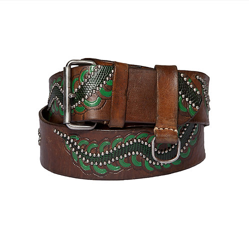 Melo green (Lizard-leather studded)