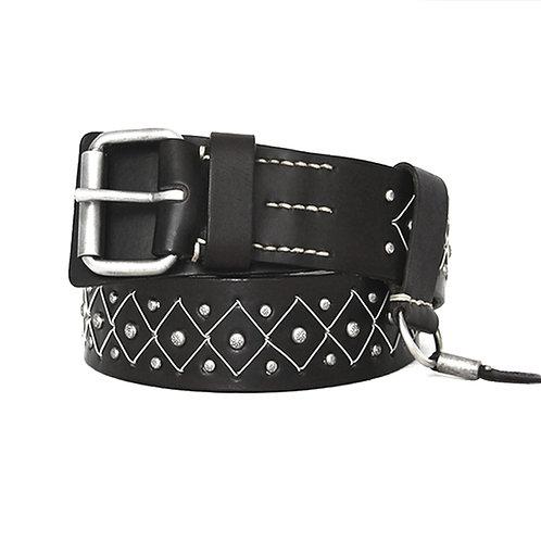 Vienna silver tin thread belt
