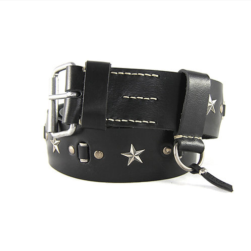 Vietnam Star belt with silver studs and stars