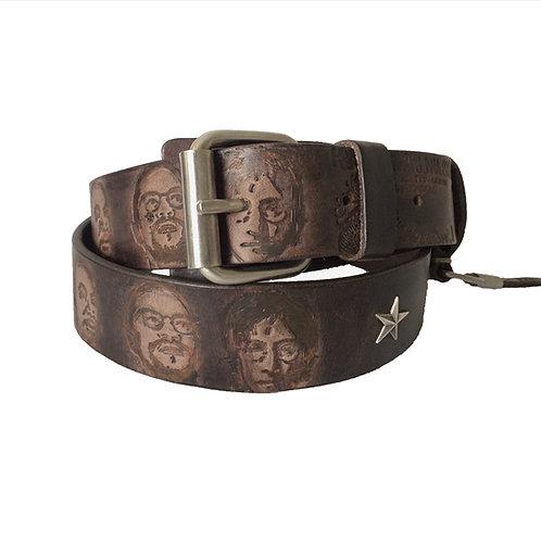 Legends embossed & brushed belt