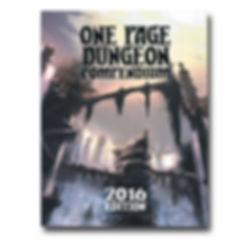 Shattered Pike Studio Role Playing Games presents the 2016 One Page Dungeon Contest Compendium