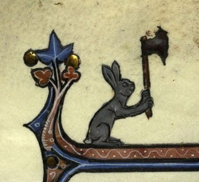 manuscript, medieval, killer rabbit