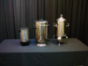 coffee perculators & warmer.JPG