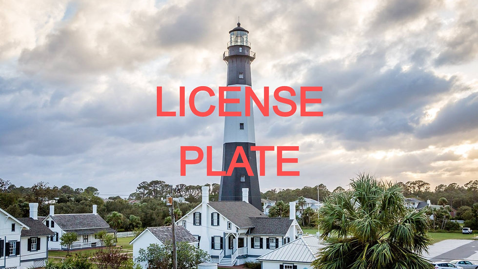 Tybee Lighthouse License Plate