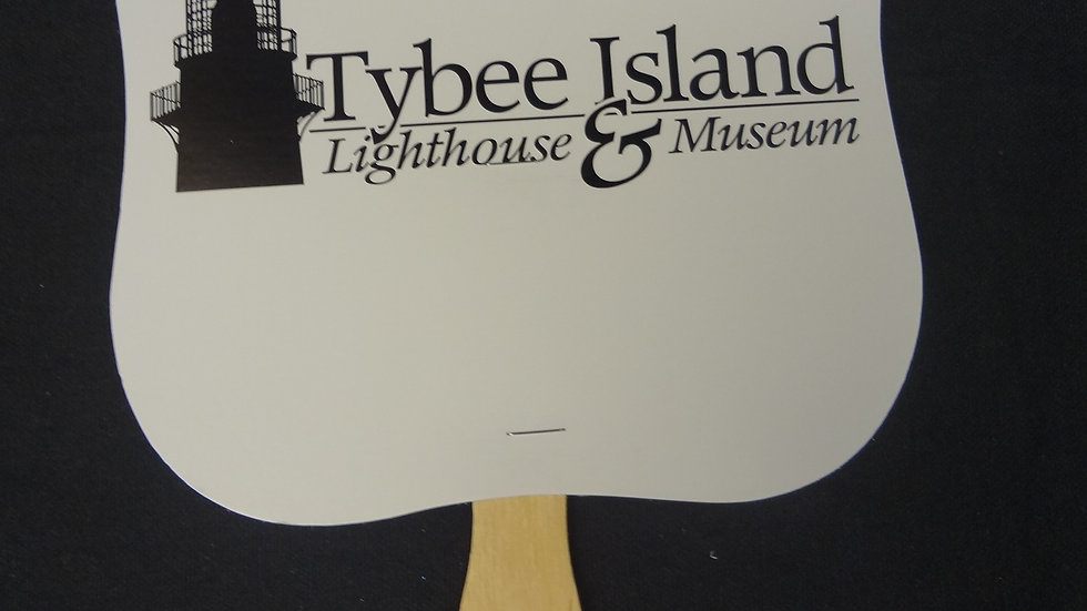 Tybee Light Station Hand Fan