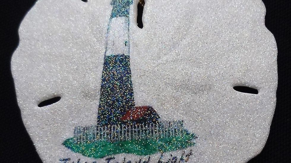 Tybee Island Lighthouse Sand Dollar Ornament
