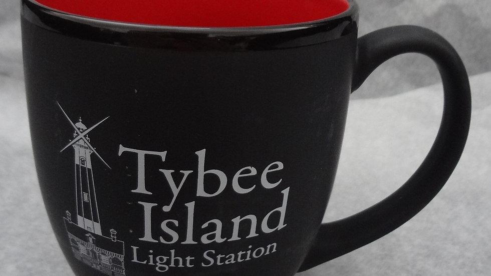 Black & Red Tybee LH Mug