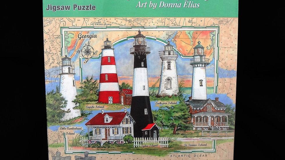 Georgia's Five Lighthouses Puzzle