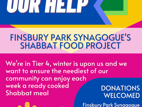 Finsbury Park Synagogue's Shabbat Meal Project