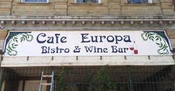 Cafe Europa Sign