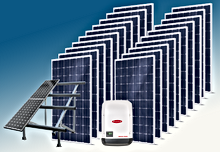 Paneles solares en Playa del Carmen