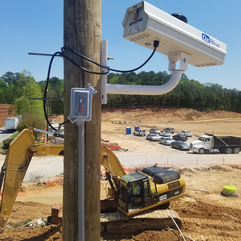 We install utility poles and mount/wire cameras on construction sites for security