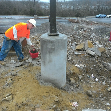 We pour concrete pole bases, set the poles, install the conduit/wiring/fixtures. From start to finish, we will get the job done!