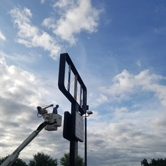 Our 45 ft. Bucket Truck is perfect for reaching road signs and building lights