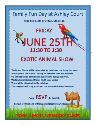 FAMILY FUN DAY - June 25th