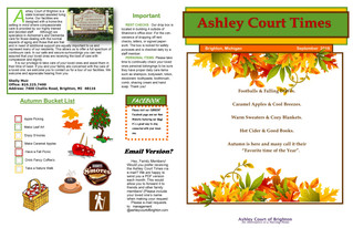 September Newsletter and Calendar