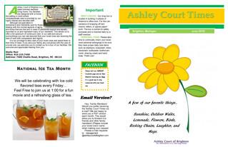 June Newsletter and Calendar