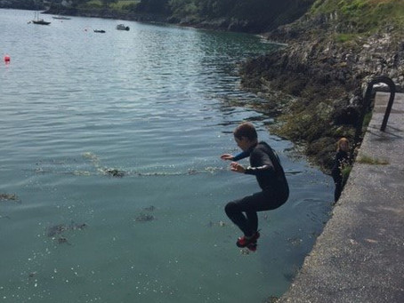 Jumping in Glandore